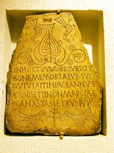 Christliche Grabinschrift, Lyon (Frankreich)
