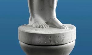 Rundkapitell der Euthydikos-Kore, um 500 v. Chr. (Abgusssammlung Heidelberg)