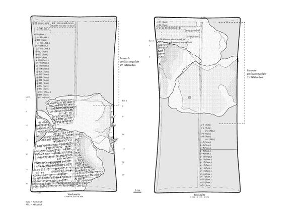Rekonstruktion der Tafel K.4980+K.6319+K.8456, © Adrian C. Heinrich